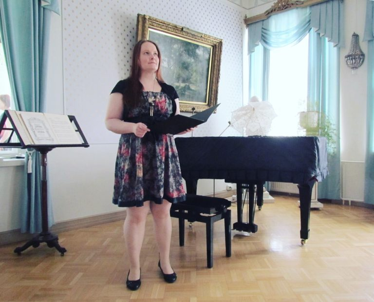 Picture from a singing gig at a wedding 2018